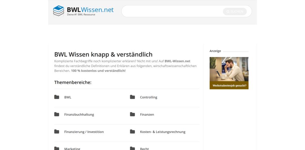 BWL-Lexikon BWL-Wissen.net
